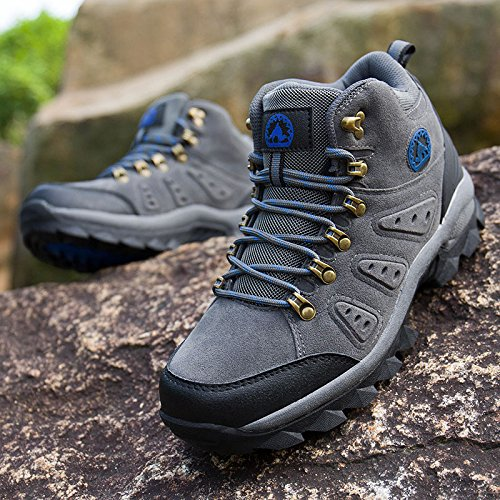 Lightweight Camel Mens 3C Leather Grey Mid Breathable Boots Waterproof F6tFnx5Rq