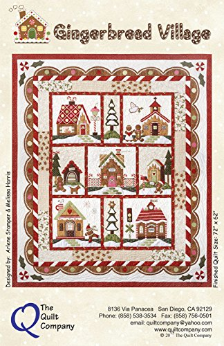 Gingerbread Village Quilt Pattern & Accessory Pack by The Quilt Company 72