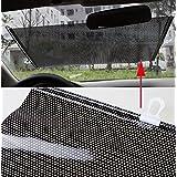 Jinon Sun Shade Auto Protector,Car Retractable Front Rear Windshield Cover Shield Blind Visor(Black)-USA Shipping