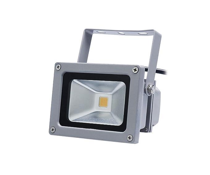 Foco Proyector LED 10 W blanco cálido Exterior Proyector Foco ...