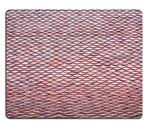 Asian Thatch (MSD Mouse Pad Natural Rubber Mousepad IMAGE ID: 34904252 Close up Temple roof tile in thai)