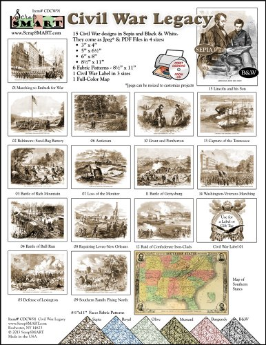 ScrapSMART - Civil War Legacy Collection Software - Jpeg & PDF Files for Mac [Download] by ScrapSMART