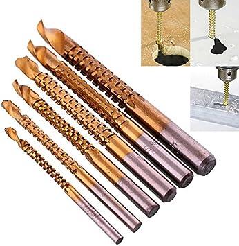 6Pcs High-Speed Steel HSS Twist Drill Set Titanium Coated Drill Bit LP