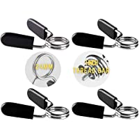 Slim Panda Dumbbell Barbell Spring Collars 1 Inch-4 Pcs-, 25mm,28mm, Exercise Collars Barbell Clip Clamps for Weight Bar…