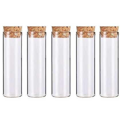 BENECREAT 10 Pack 55ml Botella de Vidrio Transparente con Corcho para Manuaildad de Artesanía Decoración de