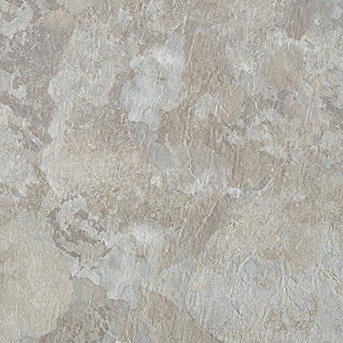 (Achim Home Furnishings MJVT180210 Majestic Vinyl Floor Tile, 18 x 18 inches, Light Gray Slate, 10-Pack)