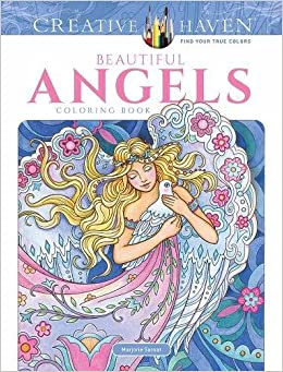 creative haven beautiful angels coloring book adult coloring amazoncouk marjorie sarnat 9780486818573 books - Coloring Book Angels