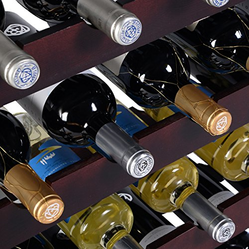 PROSPERLY U.S.Product New 24 Bottle Wood Wine Rack Holder Storage Shelf Display w/ Glass - Mississauga Store Glass