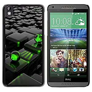 Design for Girls Plastic Cover Case FOR HTC DESIRE 816 Abstract Green Black OBBA