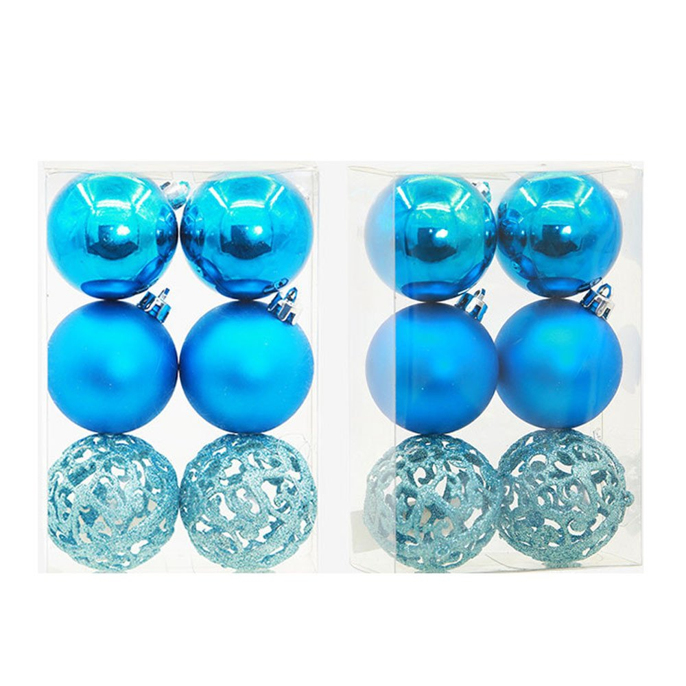 Christmas Decoration Hot Sale!Libermall Happy Holiday Balls Baubles Party Xmas Tree Decorations Hanging Ornament Decor, Perfect for Christmas Pendant Hanging Indoor Outdoor Decor Ornaments (Sky Blue)