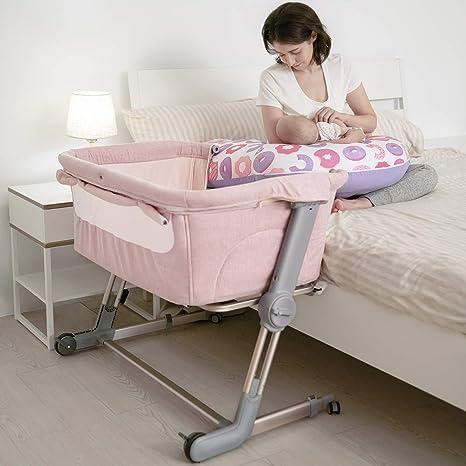 Pink UniLove Hug Me Plus Bedside Crib