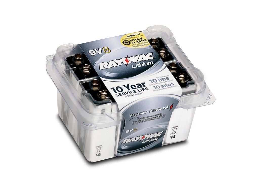 Spectrum Brands RAYR9VL8 Rayovac R9VL-8 9V Lithium Battery
