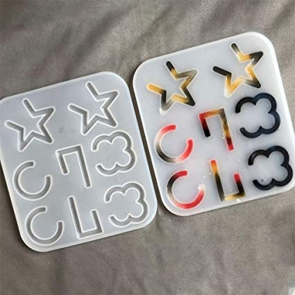 Stampi in resina acrilica a forma di stella di cricle in resina per creare gioielli alla moda un regalo affascinante per te o per i tuoi cari XIAOSHA
