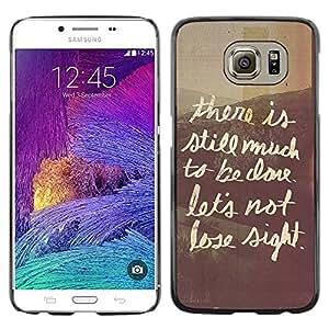 Paccase / SLIM PC / Aliminium Casa Carcasa Funda Case Cover para - Quote Café Window Writing Text - Samsung Galaxy S6 SM-G920