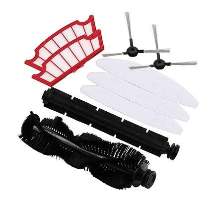 Robot aspirador cepillo lateral, De Goma, cepillo de pelo cepillo, filtro y cepillos