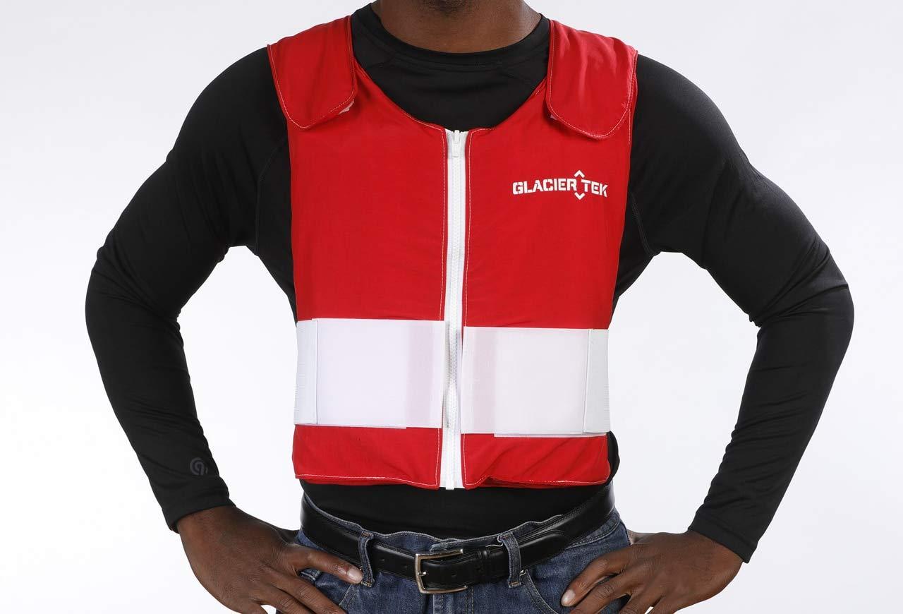 Glacier Tek Santa Cool Vest with Set of 8 Nontoxic Cooling Packs