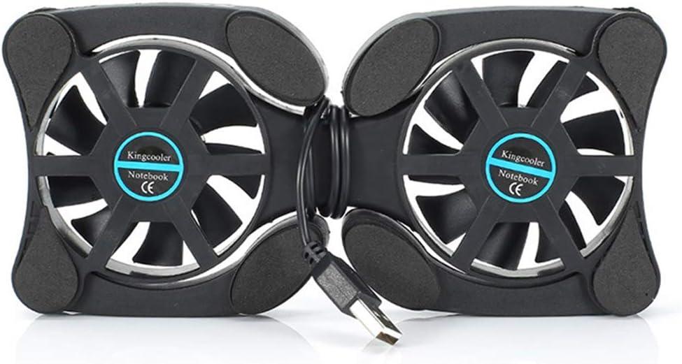 Laptop Cooler Cooling Pad Radiador portátil Plegable Ventiladores duales Alimentado por USB