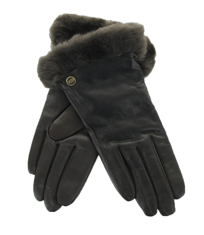 UGG Women's Classic Leather Smart Glove Brown LG