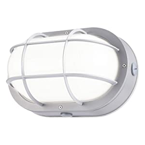 LEONLITE LED Bulkhead Light, 10W (60W Equivalent), Energy Star, 5000K Daylight White Outdoor Wall Light, 5 Years Warranty