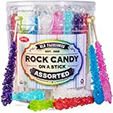 Rock Candy Crystal Sticks 36 Count, Net Wt. 1 Lb 12oz