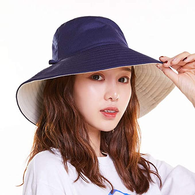 759910af092 NAAO New Spring Summer UV Protection Outdoor Bucket hat for Women Brand  Cotton hat Casual Big