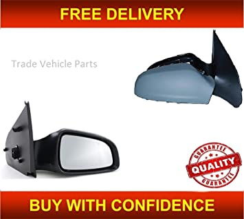 VAUXHALL ASTRA H MK5 PASSENGER SIDE DOOR WING MIRROR MANUAL ADJUST PRIMED