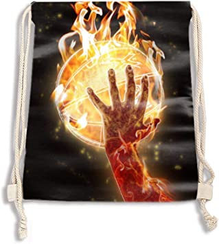 Drawstring Backpack Giraffe Bag Water Resistant Lightweight Gym Sackpack For Hiking Yoga Gym Swimming Travel Beach