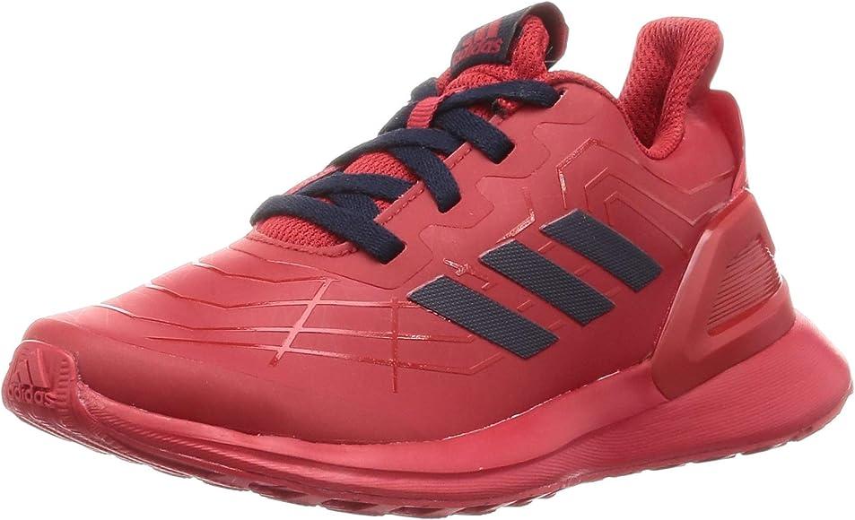 Adidas RapidaRun Spider-Man K, Zapatillas de Running Unisex niño ...