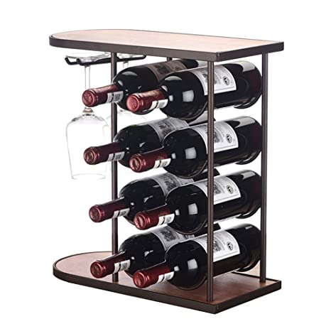 LXLA- Tablero De 8 Botellas Botellero De Almacenamiento De Vino, Soporte De Vino De