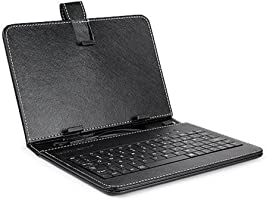 Cewaal 9.7 inch PU Leather Tablet Keyboard Stand Holster Case Cover for Android