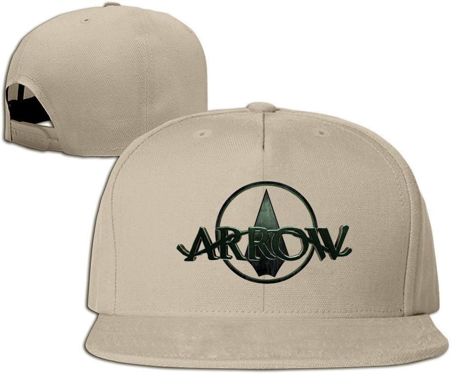 Hittings Arrow Unisex Fashion Cool Adjustable Snapback Baseball Cap Hat One Size Natural