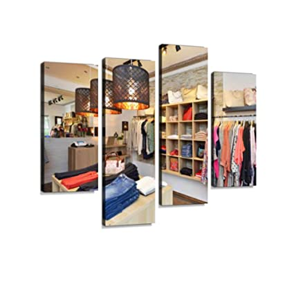 d3109b651f6 Interior of a Store Selling Women s Clothes and Accessories Canvas Wall Art  Hanging Paintings Modern Artwork