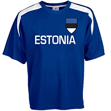 af5097af658 Customized Estonia Soccer Jersey Adult Small in Royal Blue and White