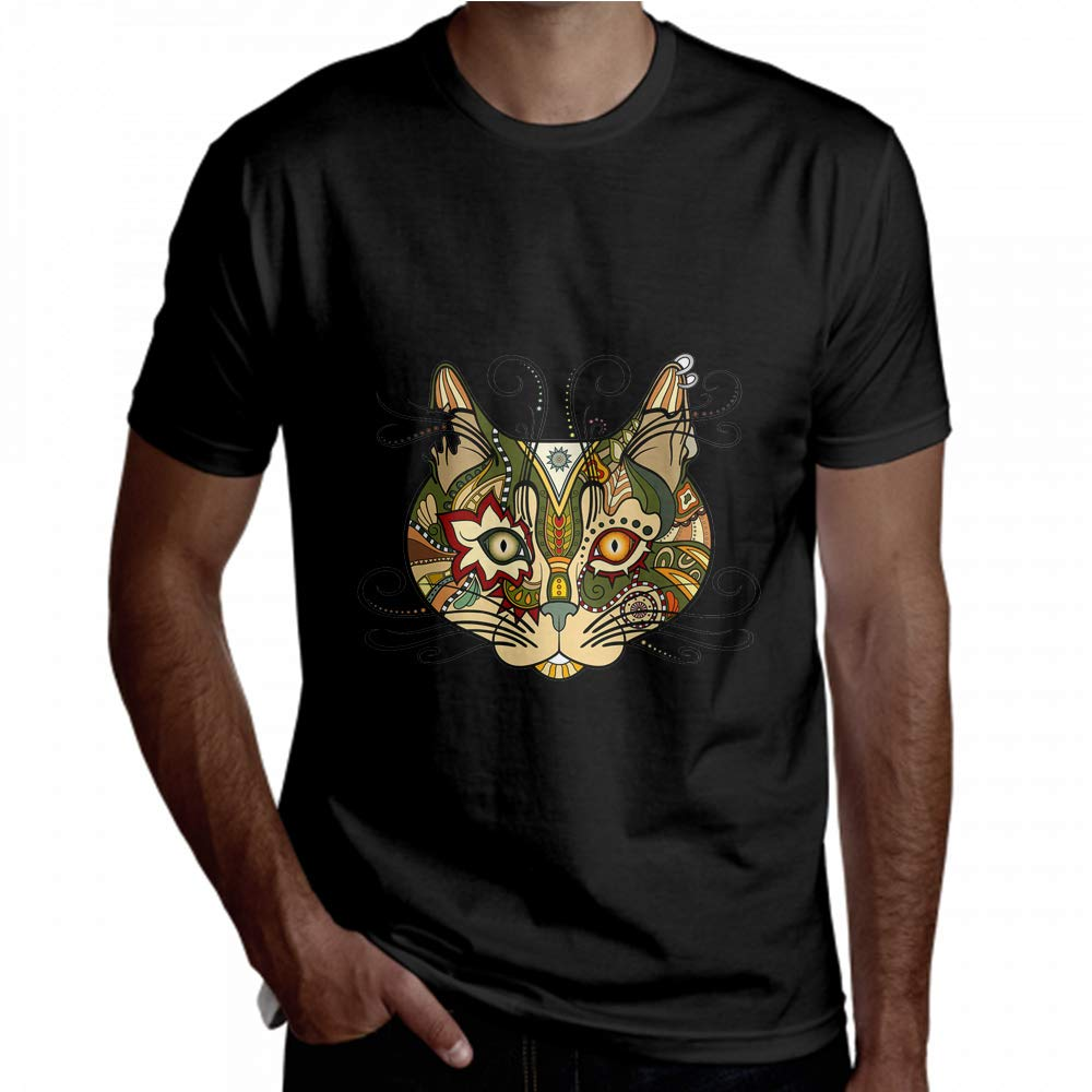 Cool Shirt Crazy Special Sun Decorative Emblem Short Sleeve T-Shirt Mens Tees
