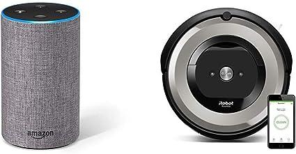 Echo gris oscuro + iRobot Roomba e5154 - Robot Aspirador Óptimo ...