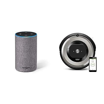 Echo gris oscuro + iRobot Roomba e5154 - Robot Aspirador Óptimo Mascotas, Succión 5 Veces