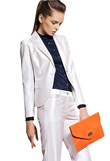 47303e12bc9a Women's Slim Elegant Two Piece Office Lady Suit Set Business Work Blazer  Jacket & Pant Prom