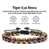 M MOOHAM Mens Tiger Eye Bracelet Gifts - 8mm