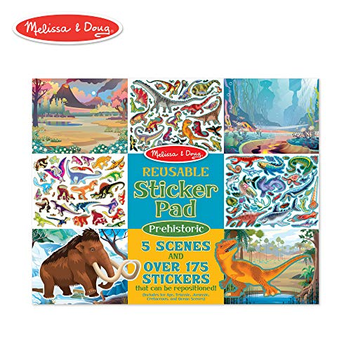 Melissa & Doug Prehistoric Reusable Sticker Pad -
