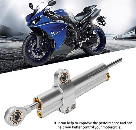 Suuonee Aluminiumlegierung Dämpfer Universal Motorrad Cnc Aluminiumlegierung Lenkungsdämpfer Stabilisator Zubehör Splitter Auto