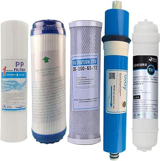 5 Niveles 10 Pulgadas Niveles de Osmosis inversa Pure Agua RO ...