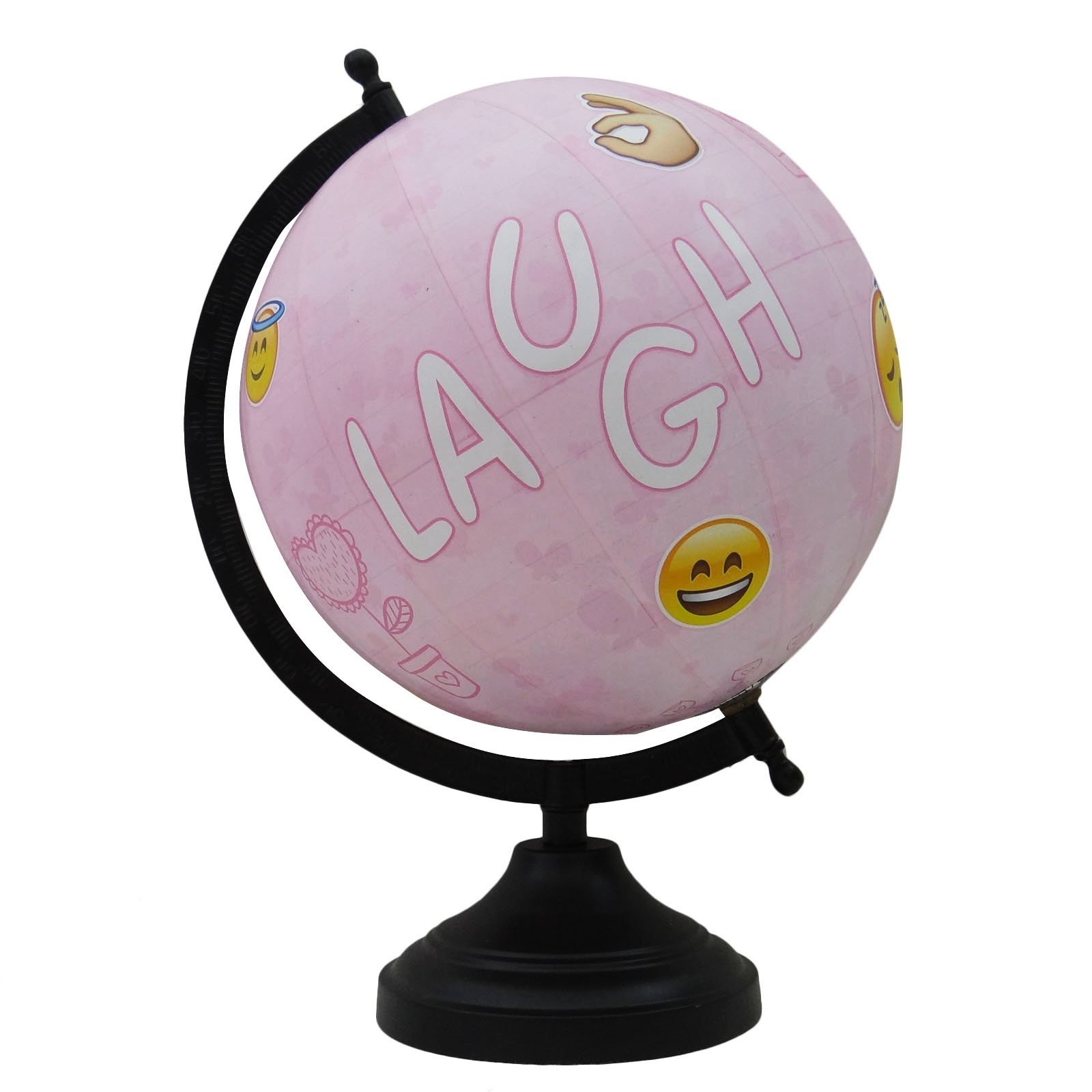Decorative Emoticon Globe Rotating Desktop Home Office Table Decor Gift