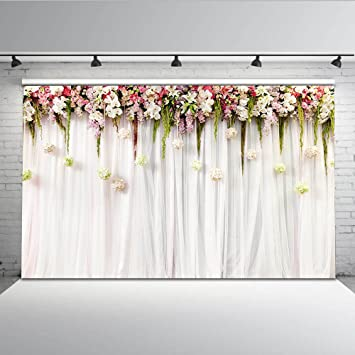 Mehofoto Blumenvorhang Bridal Shower Hintergrund 7x5ft Amazon De