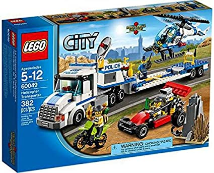 Amazon Com Lego City Helicopter Transporter 60049 Toys Games