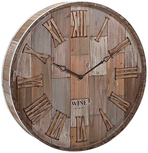 IMAX 83457 Barrel Clock Natural