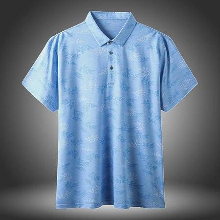 GNAXY Polo Camisa Camiseta Hombre,Golf Seda Polos Manga Corta Camisa Tecnico Transpirable Secado Rápido,Camisas Verano Deporte Golf Tennis T-Shirt Oficina,Lightblue,185: Amazon.es: Hogar