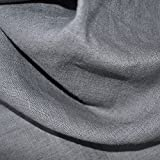 100% Linen Fabric - Mouse Grey | Superior Quality French Plain Linen Solid Fabric with a Beautiful Soft Feel and Handle (54 Inches Wide) - Per Yard