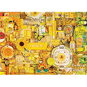 Cobblehill 80148 1000 Pc Yellow Puzzle Vari