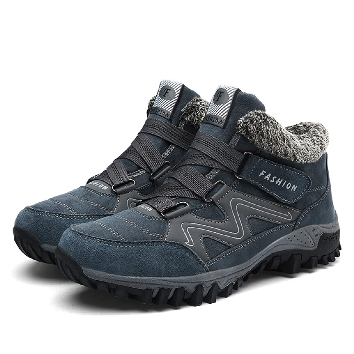 Men's Hiking Footwear Cotton-Padded Suede Shoes For Outdoor Trekking