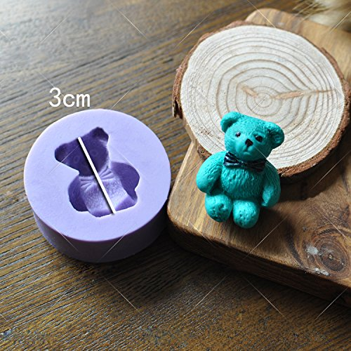 Toy Bear - Teddy Sitting Design Button Shape Silicone Mould for Cake Decorating Cupcakes Sugarcraft Candies Pack of 2 by Vivin (Image #5)